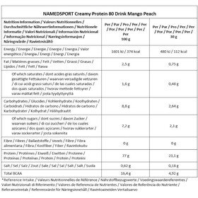 NAMEDSPORT Creamy Protein 80 Drank 500g, Mango Peach